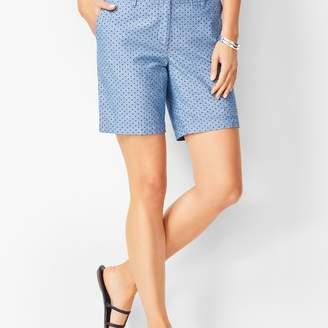 Talbots Girlfriend Shorts - Chambray Dot