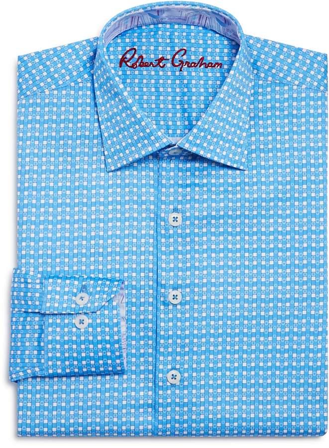 Boys' Printed Check Dress Shirt - Big Kid