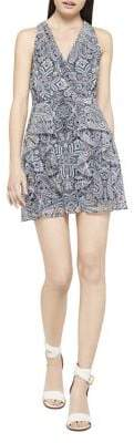BCBGeneration Paisley Fit-&-Flare Halter Dress
