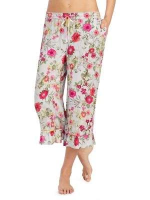 Kensie Cropped Floral Pajama Bottoms