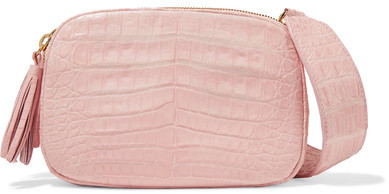 Nancy Gonzalez - Crocodile Shoulder Bag - Baby pink