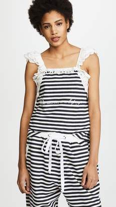 Natasha Zinko Striped Lace Combo Tank