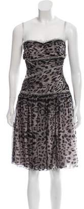 Dolce & Gabbana Printed Silk Dress w/ Tags