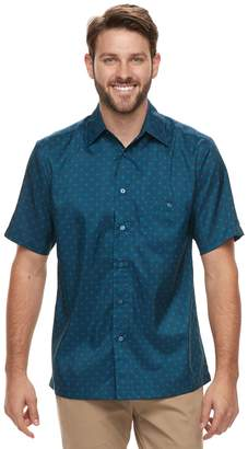Haggar Men's Classic-Fit Microfiber Button-Down Shirt