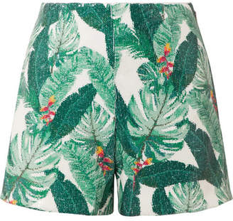 Rachel Zoe Miley Sequined Crepe Shorts - Green
