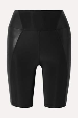 Heroine Sport - Biker Paneled Stretch Shorts - Black