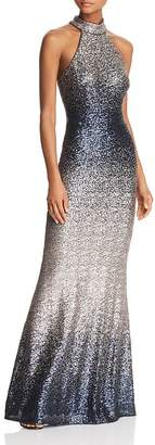 Avery G Ombré Sequined Gown