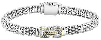 Lagos Pave Diamond Cushion Rope Bracelet, 6mm