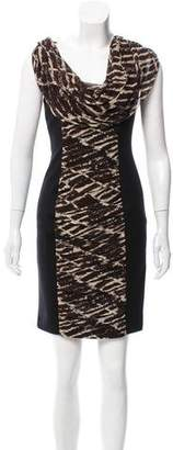 Tracy Reese Printed Silk-Paneled Dress