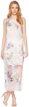 Vince Camuto Sleeveless Diffused Blooms Knit Underlay Dress Women's Dress