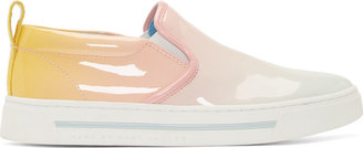 Marc by Marc Jacobs Pink Patent Degrade Cute Kick Slip On Sneakers $300 thestylecure.com