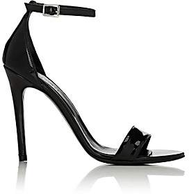 Barneys New York Women's Patent Leather Ankle-Strap Sandals-Black