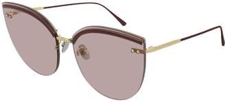 Bottega Veneta Rimless Cat-Eye Sunglasses