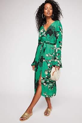 Mixed Print Twist Dress