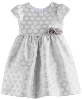 Girls 4-6x Marmellata Classics Silver Dot Dress
