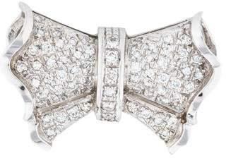 14K Diamond Bow Slide Pendant