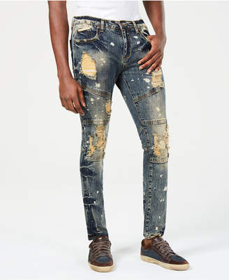 Heritage America Mens Slim-Fit Distressed Jeans