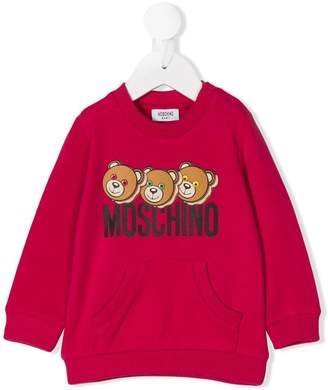 Moschino Kids teddy logo printed sweatshirt