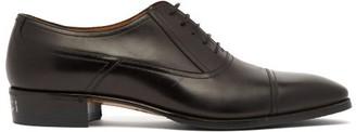 Gucci Plata Leather Derby Shoes - Mens - Black
