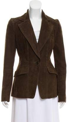 John Varvatos Suede Notch-Lapel Blazer