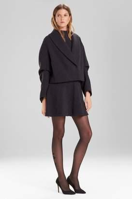 Josie Natori Knit Jacquard Cropped Jacket