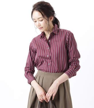 NEWYORKER women's 【ファイナルセール】【ハンサムFit】レジメンタルストライプシャツ