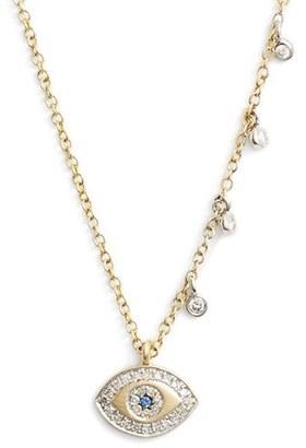 Women's Meirat 'Evil Eye' Diamond Pendant Necklace $650 thestylecure.com
