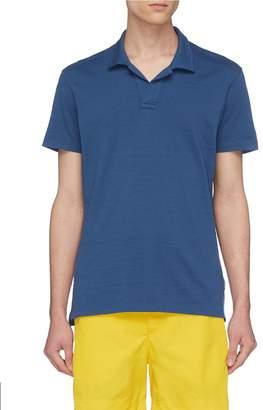 Orlebar Brown 'Felix' open placket slub jersey polo shirt