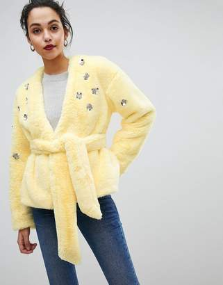 Asos DESIGN Faux Fur Jacket