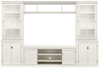 Pottery Barn Logan Media Suite with Glass Towers & Bridge, Antique White
