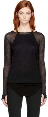 Maison Margiela Black Long Sleeve Underpinning T-Shirt