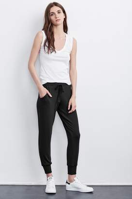 Velvet by Graham & Spencer KOKO COZY JERSEY RIBBED JOGGERS