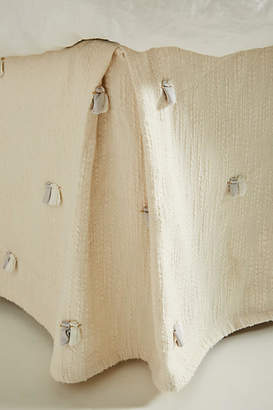 Anthropologie Embroidered Nikea Bed Skirt