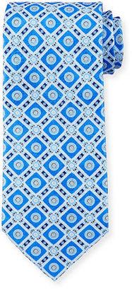 Stefano Ricci Medallion-Print Silk Tie $275 thestylecure.com