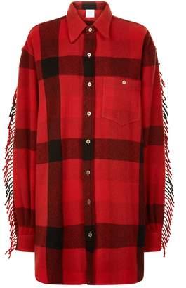 Vetements Flannel Western Shirt