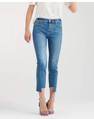 7 For All Mankind High Waist Josefina With Angled Seams In Canyon Ranch