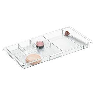 InterDesign Expandable Cosmetics Drawer Organizer Tray for Vanity Cabinet – Ideal for Makeup
