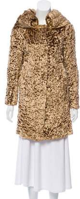 Blumarine Faux Fur Knee-Length Coat