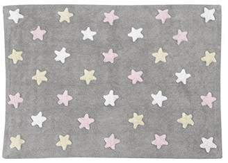 Equipment Lorena Canals Tricolour Stars Washable Rug (Grey/Pink)