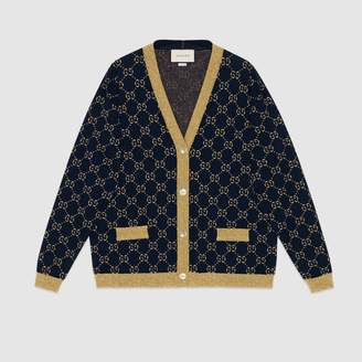Gucci GG cotton lurex cardigan