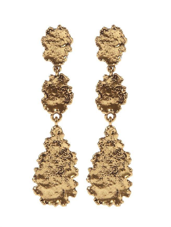 Oscar de la Renta Textured Linked Earring