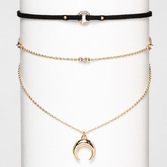 SUGARFIX by BaubleBar Layered Choker Necklace - Gold $16.99 thestylecure.com