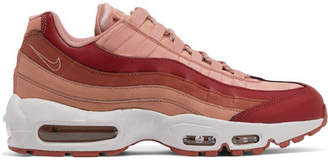 Nike Air Max 95 Suede And Leather Sneakers - Blush