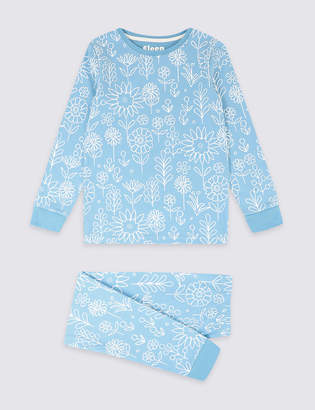 Marks and Spencer Cotton Pyjamas with Stretch (3-16 Years)