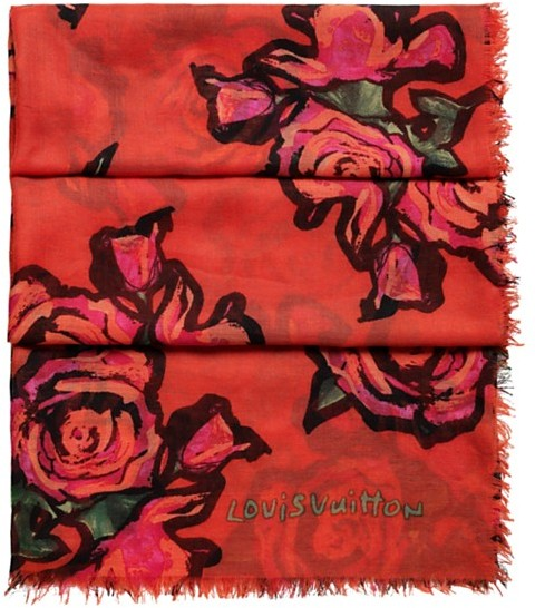 Louis Vuitton Monogram Roses Stole