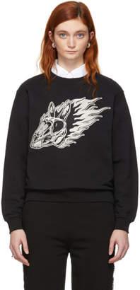 McQ Black Metallic Bunny Sweatshirt