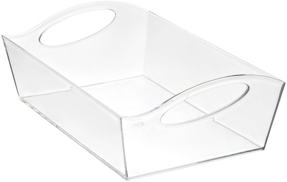 Container Store Large Wave Storage Basket Clear