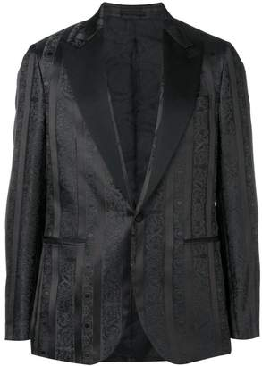 Versace striped patterned dinner jacket