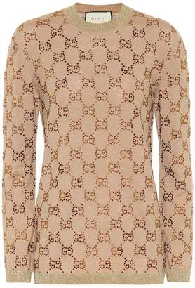 Gucci GG embellished wool sweater