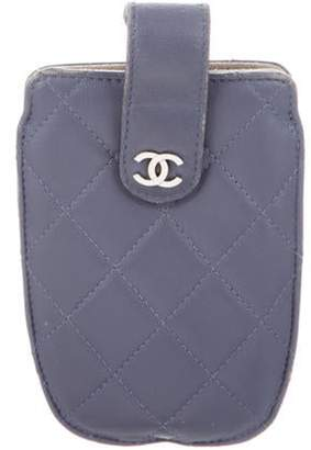 Chanel Quilted CC Phone Pouch Purple Quilted CC Phone Pouch
